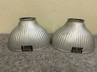 Pair of Pittsburgh Reflector Co Permaflector Mercury Glass Shades