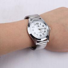 Retro Men's Women's Couple Elastic Band Stainless Steel Quartz Watch Wristwatch