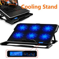 Laptop Notebook Cooling Pad USB 6 Fans CPU Coolers Radiator Game Stand 14-16""