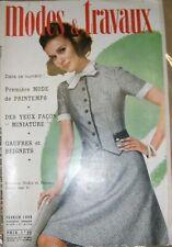 Modes et travaux N° 818 Février 1969 Mode vintage Patron Broderie Tricot Layette