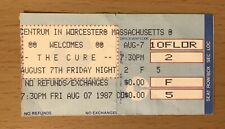 1987 THE CURE WORCESTER MASS. CONCERT TICKET STUB ROBERT SMITH BOYS DON'T CRY