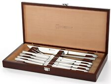 Wusthof Stainless Steel 10 PC Steak & Carving Knife Set w/ Presentation Chest