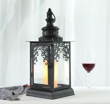 """Black 10/"""" tall skinny western star candle lantern holder wedding garden patio"""