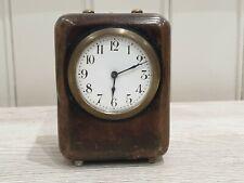 Ancien réveil de voyage pendulette sonnerie à cloche Junghans ou HAU  ref 835.5