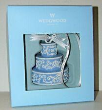 2012 Wedgwood Jasperware Wedding First Christmas Birthday Cake Ornament Mib