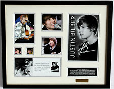New Justin Bieber Signed Limited Edition Memorabilia Framed