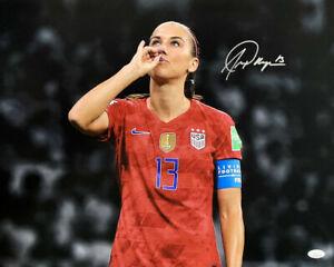 Alex Morgan Signed 16x20 USA Soccer 2019 World Cup Teacup Photo JSA