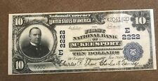 McKeesport  Pennsylvania,  first national bank, 1902,$10  , XF
