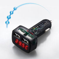 FJ- EG_ 4 In 1 Dual USB Car Charger Adapter Voltage DC 5V 3.1A Tester For Phone