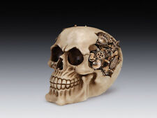 STEAMPUNK CYBORG HEAD SKULL GEAR BRAIN SKELETON FIGURINE STATUE HALLOWEEN