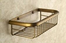 Antique Brass Wall Mounted Bathroom Soap / Sponge Shower Storage Basket fba523