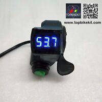 24V/36V/48V/60V Thumb Throttle with Cruise function LED voltage displayfor ebike