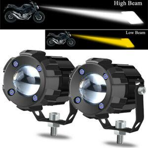 2x 30W Aluminum LED ATV UTV Headlight White & Yellow Spotlight Shooter Fog Lamp