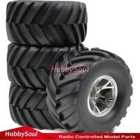 4Stk RC 2.2 Badland Monster Mud Tires Reifen 130mm & 2.2 Truck Wheels Rim Felgen