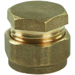 Stop End - Brass Compression - End Cap Fitting 15mm, 22mm & 28mm