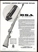 1960 BSA Featherweight Majestic Deluxe Rifle AD Gun Hunting Advertising