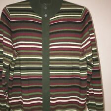 One True Saxon Mens Cardigan, Size Small Used In Multi green Colour.