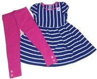 Gymboree Girls Navy White Stripe Dress Leggings 3T  NWT