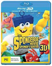 The Spongebob Movie : Sponge Out Of Water 3D : NEW 3-D Blu-Ray + 2D Blu-Ray