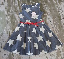 NWT Gymboree Star Spangled Summer July 4h Chambray Red White Blue Dress Size 10