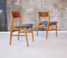 1(2) 60er Teak Stuhl Neubezug Mid-Century 60s Chair Vintage New Upholstery