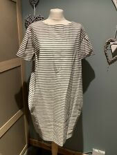 Marks & Spencers Autograph Black Striped Dress Size 18