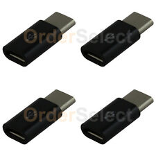 4 Micro USB to USB Type C Converter Charger Adapter for Android Cell Phone