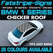 BMW 1 SERIES GRAPHICS CHECKER ROOF CAR VINYL DECALS STICKERS STRIPES COUPE E87