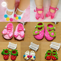 EG_ Cute Baby Newborn Infant Girls Handmade Crochet Knit Crib Shoes Socks Prewal