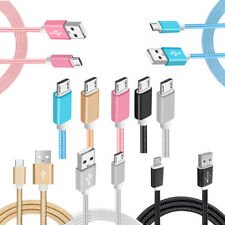 2.4a Fast Charging Strong Braided Micro USB Cable for HTC One A9 M9 M8 Desire Gold 2m