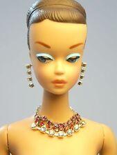Barbie Repro Vintage FR Handmade Necklace Earrings Rhinestone Jewelry NE100012