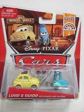 DISNEY PIXAR CARS WHEEL WELL MOTEL LUIGI & GUIDO WITH SHAKER & GLASSES