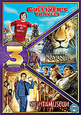 Gulliver's Travels / Chronicles Of Narnia / Night At The Museum (DVD, 2012, 3-D…