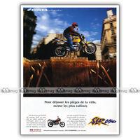 PUB HONDA SLR 650 SLR650 - Ad / Publicité Moto de 1996
