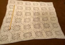 """Handcrafted White Granny Square Afghan Pattern, 58""""x58"""""""