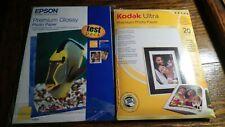 KODAK ULTRA PREMIUM 4X6 20 SHEETS & EPSOM PREMIUM GLOSSY 5X7 PHOTO PAPER
