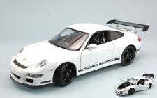 Porsche 911 Gt3 Rs 2007 White With Black Strips 1:18 Model 8015W WELLY