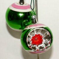 Christmas Ornament KURT ADLER Glass COLOMBIA KSA  Ball INDENT Feather Tree #05