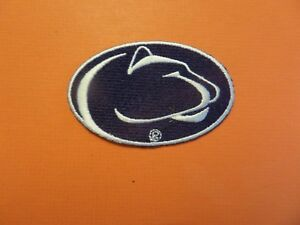 PENN STATE NITTANY LIONS* NCAA BLUE & WHITE EMBROIDERED IRON ON PATCHES  2 X 3