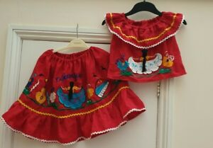 Girls Nicaraguan National Costume Fancy Dress Age 2 - 4 Years approx