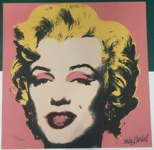 Andy Warhol Marilyn Monroe 60x60 cm Certificato di autenticita' MZ030