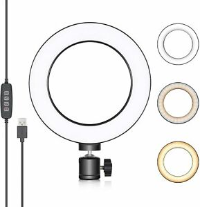 Neewer LED Ring Light 6-inch with 3 Light Modes and 10 Brightness Level