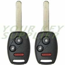 2 New Uncut Replacement Keyless Remote Head Key Fob MLBHLIK-1T Fit CRV Insight