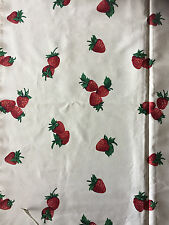 Pick a Strawberry Print Fabric Spectrum Fruit Cup Collection  1 5/8 Yd