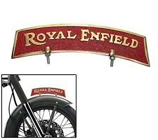 Brass Front Fender Plate Royal Enfield Golden & Red