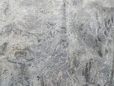 Vintage Silver Grey White Marbled Cotton Interiors Fabric