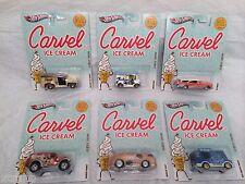 Set Of 6 Hot Wheels Nostalgia Carvel Ice Cream