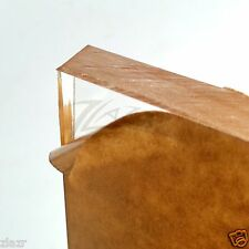 "1/2"" THICK 12"" x 12"" Clear Acrylic Sheet Slab Cast Plastic Plexiglass Square USA"