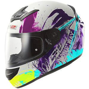 Casco Helmet LS2 352 ROOKIE ONE Nero Bianco Rosa Black White Pink Fluo - TG XS