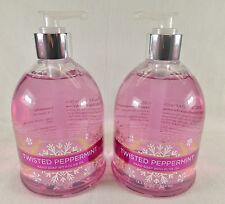 2 Twisted Peppermint Hand Soap Bath & Body Works 13.3 Oz